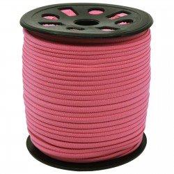 1/6 inch - Nylon Banded Elastic - Pink