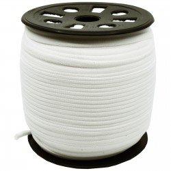 1/6 inch - Nylon Banded Elastic - White