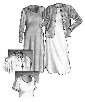 GC1270 - Silhouette Dress & Cardigan