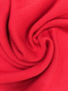 1x1 Tubular Ribbing - Red