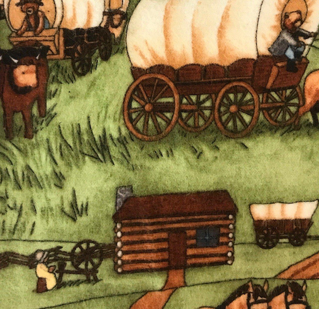 100% Cotton Flannel - Wagon Trail Bears