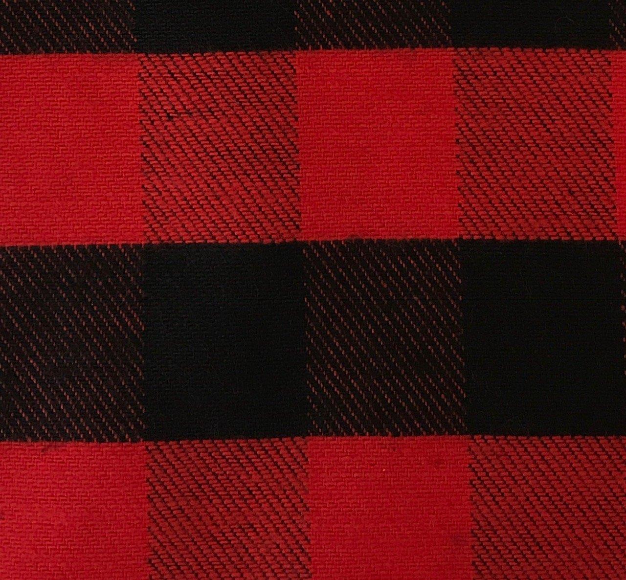 Plaid Flannel  - Red/Black Check