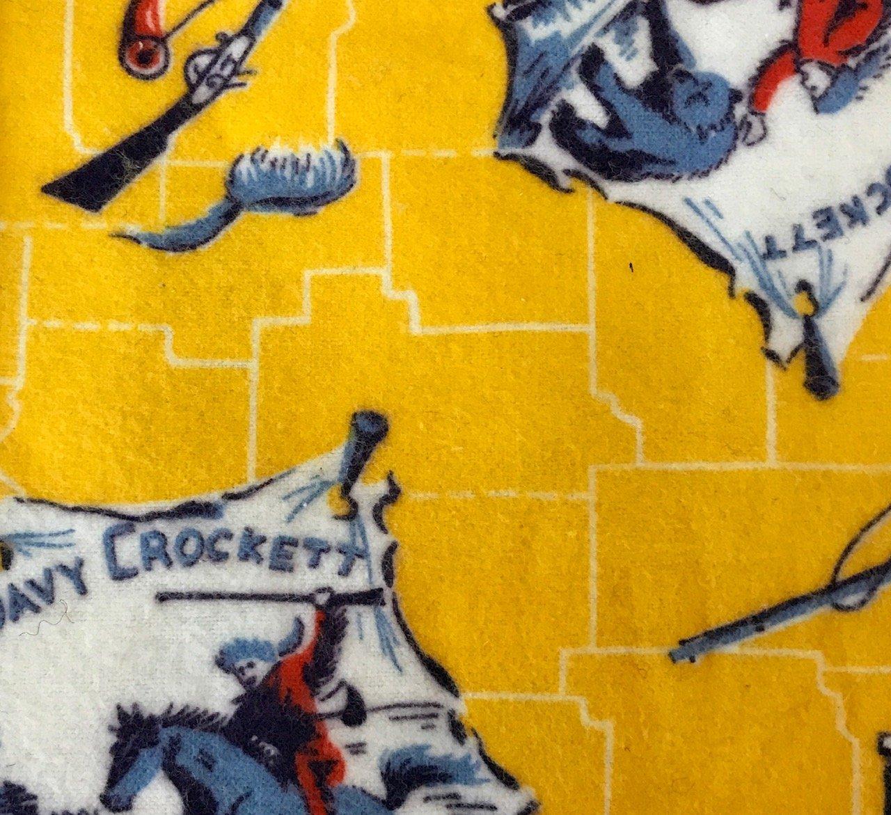 100% Cotton Flannel - Davey Crocket Fishing