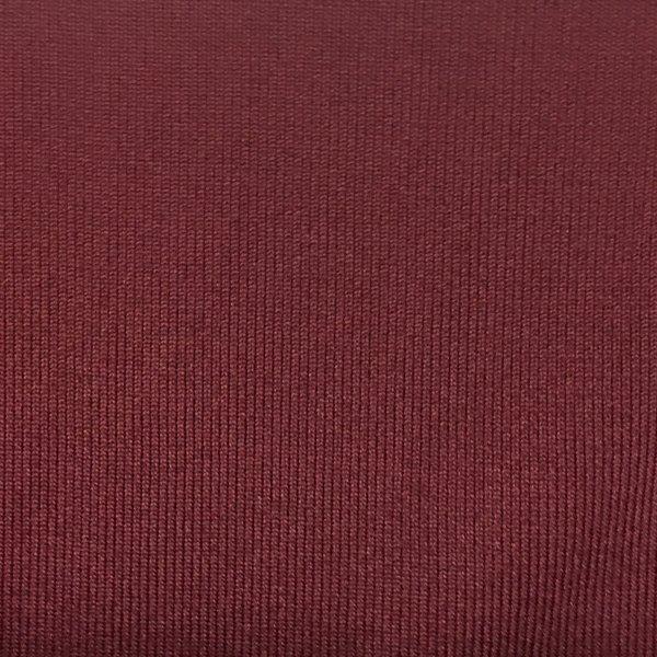 1x1 Tubular Rib - Burgundy