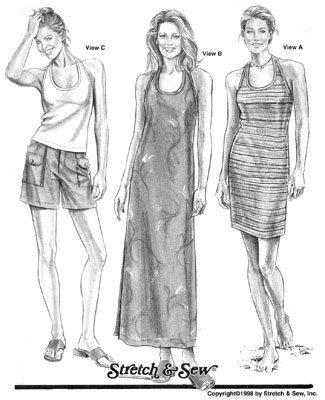 SS1534 - Halter Top & Dresses