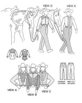 SU3790 - Women's Western Show Shirts & Pant