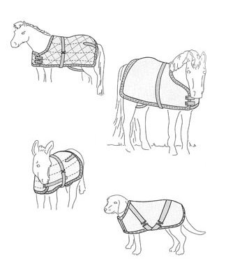 SU7606 - Blanket or Sheet Pattern for Miniature Horses Foals Small Ponies & Dogs