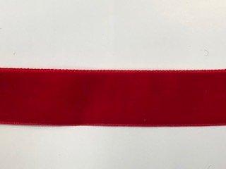 Velvet - 1 inch - Red