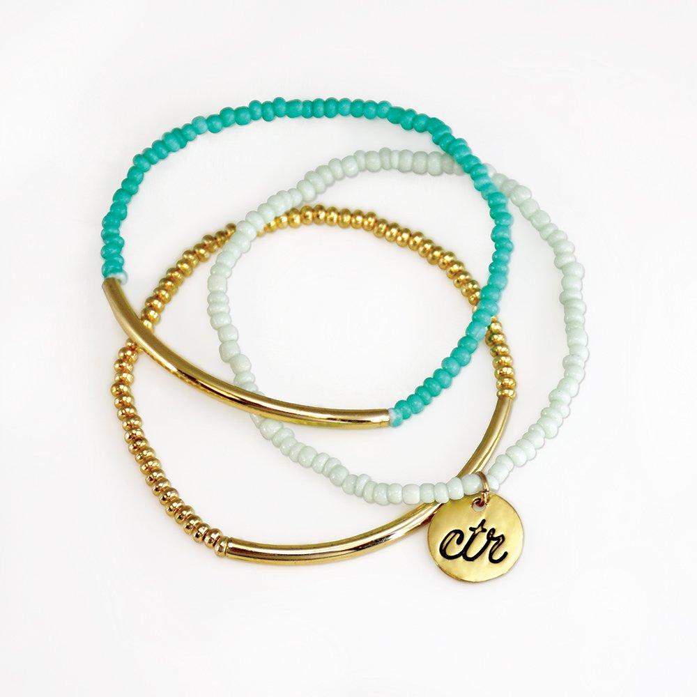 Mint & Gold Bracelet