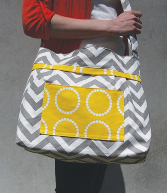 Yellow Sunshine Mommy Bag with changing cloth