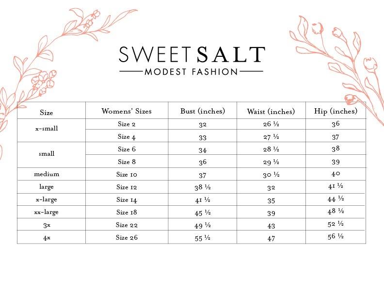 Sweetsalt Clothing Size