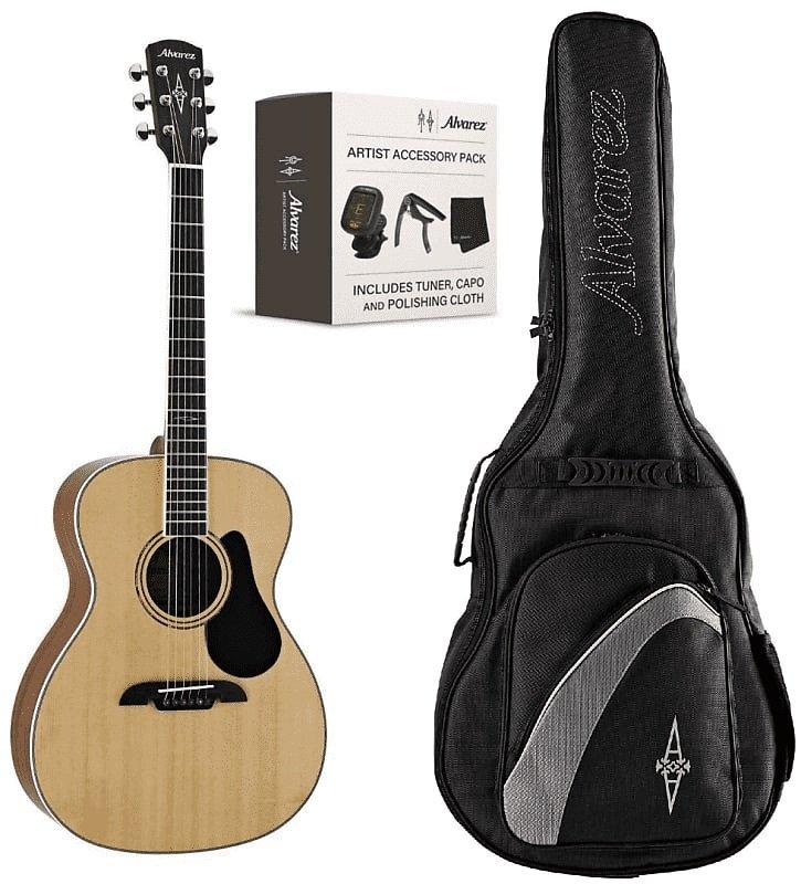Alvarez AF60AGP Artist OM Guitar Pack