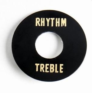 AP-0663-023 Black Plastic Rhythm/Treble Ring