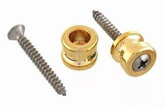 AP-0682-002 Gold Strap Lock Buttons - Pair