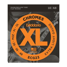 D'Addario ECG23 Extra Light Chrome Strings (10-48)