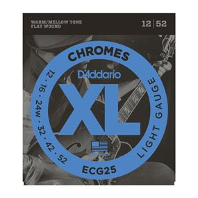 D'Addario ECG25 Flat Wound Strings12/52