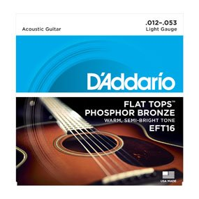 D'Addario EFT16 Flat Top Strings Light, 12-53