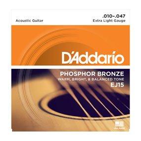 D'Addario EJ15 PB Extra Light Acoustic Strings (10-47)