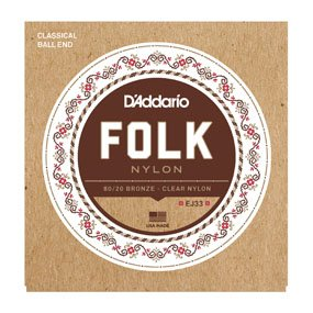 D'Addario EJ33 Folk Nylon Ball End (28/45) Strings
