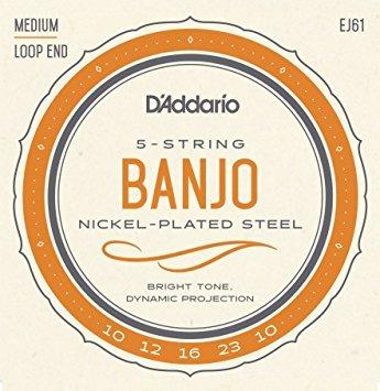 D'Addario EJ61 Banjo Med Strings (10/23)