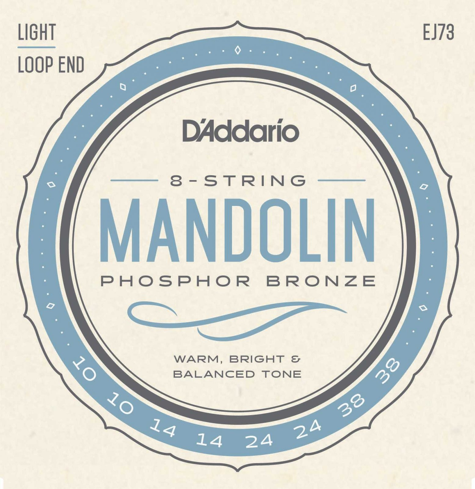 D'Addario EJ73 Mandolin Light Strings