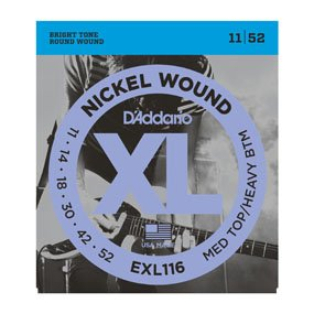 D'Addario EXL 116 Med Top/Light Bottom (11/52) Strings