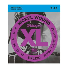 D'Addario EXL120 9-42 Electric Strings
