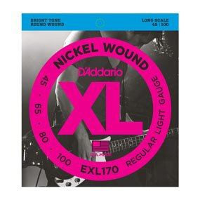 D'Addario EXL170 Light Nickel Wound Bass Strings