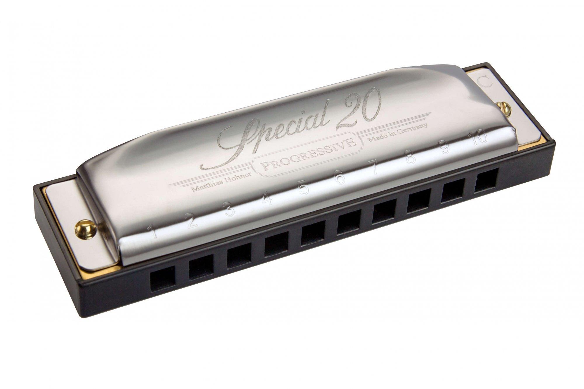 Hohner 560PBX-D Progressive Special 20 Harmonica - D