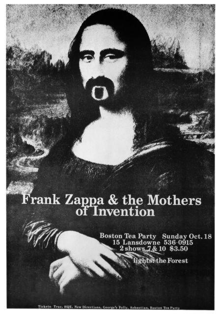 Frank Zappa Mona Lisa Poster 50