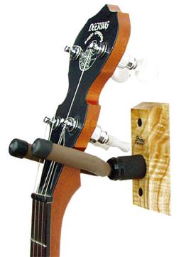 String Swing Banjo Wall Hanger Black Walnut