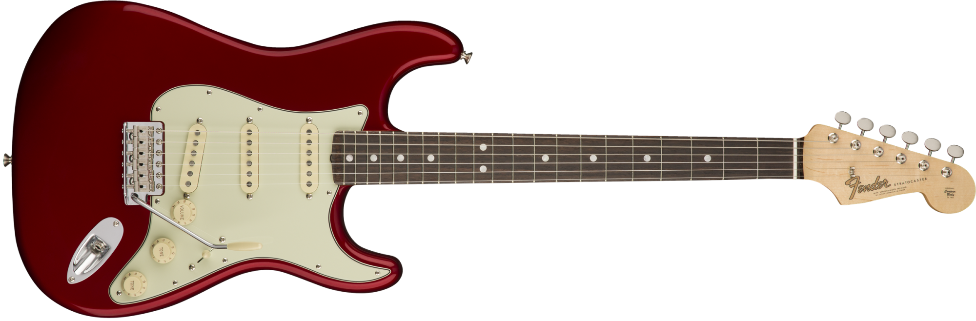 Fender American Original '60s Stratocaster Electric Guitar - Rosewood Fingerboard - Candy Apple Red