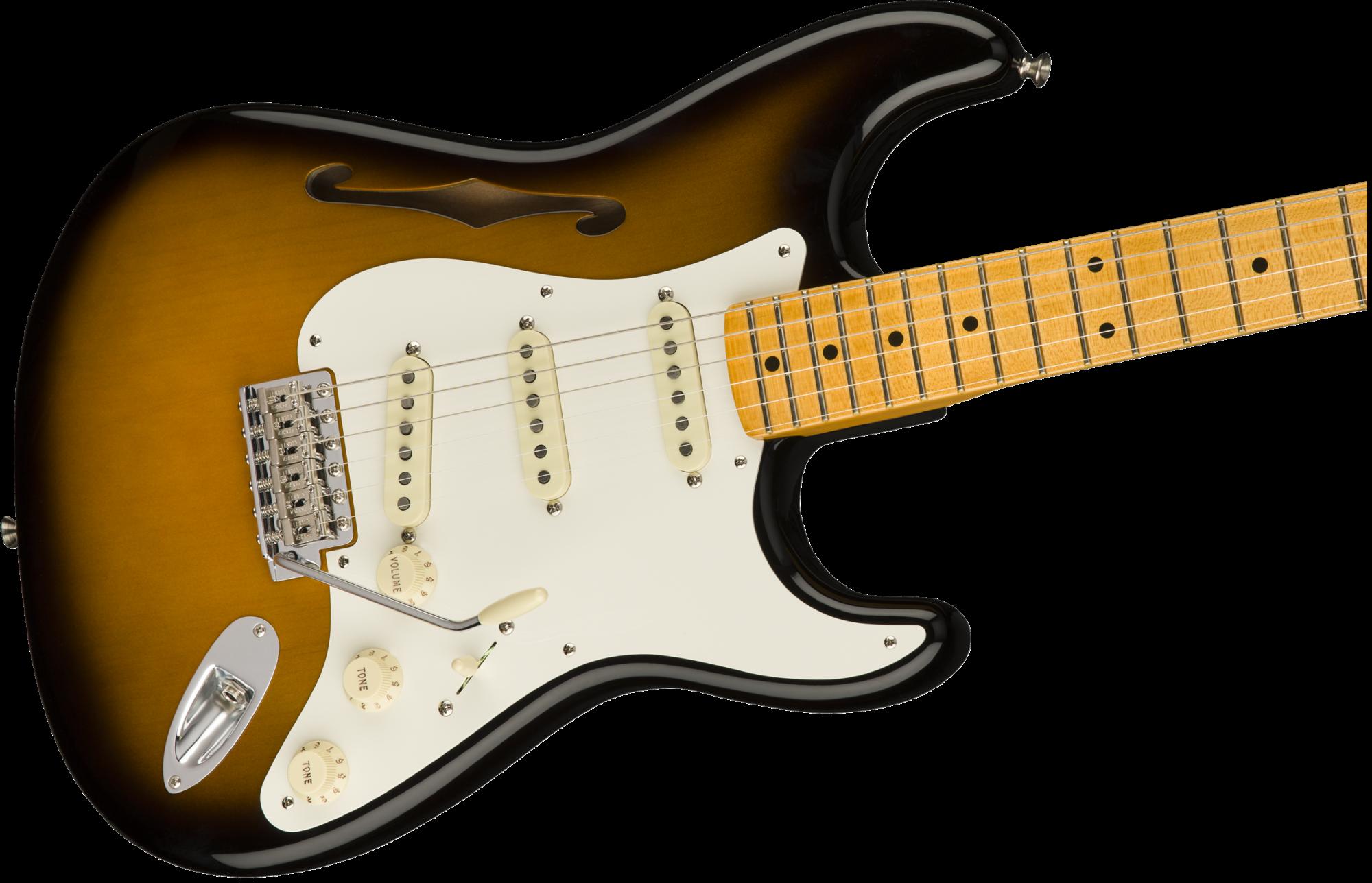 Fender Eric Johnson Thinline Stratocaster Electric Gutiar - Maple Fingerboard - 2-Color Sunburst