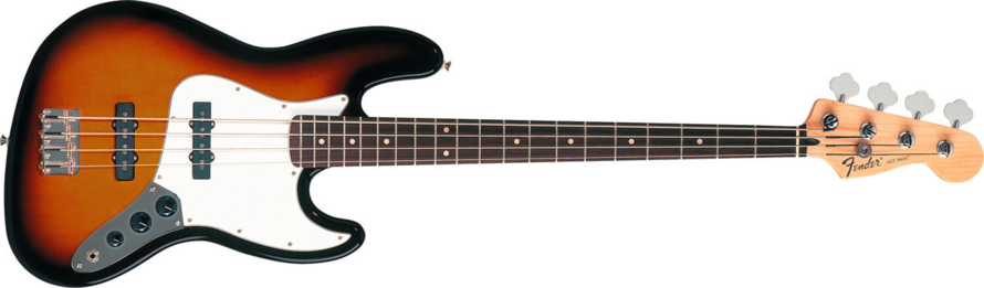 Fender Standard Jazz Bass Guitar Rosewood Fretboard - Brown Sunburst