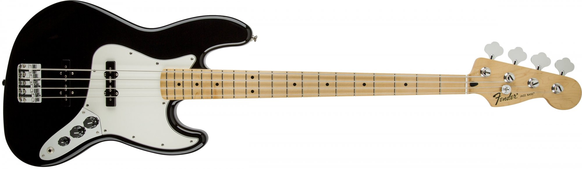 Fender Standard Jazz Bass Guitar Maple Fretboard - Black