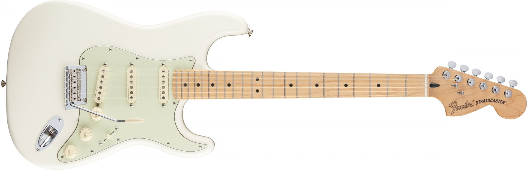 Fender Deluxe Roadhouse Stratocaster Electric Guitar- Olympic White - Maple Fingerboard