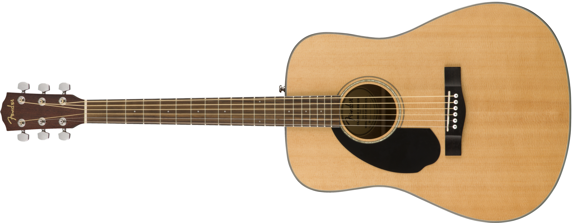 Fender CD-60S Left-Hand Acoustic Guitar - Natural