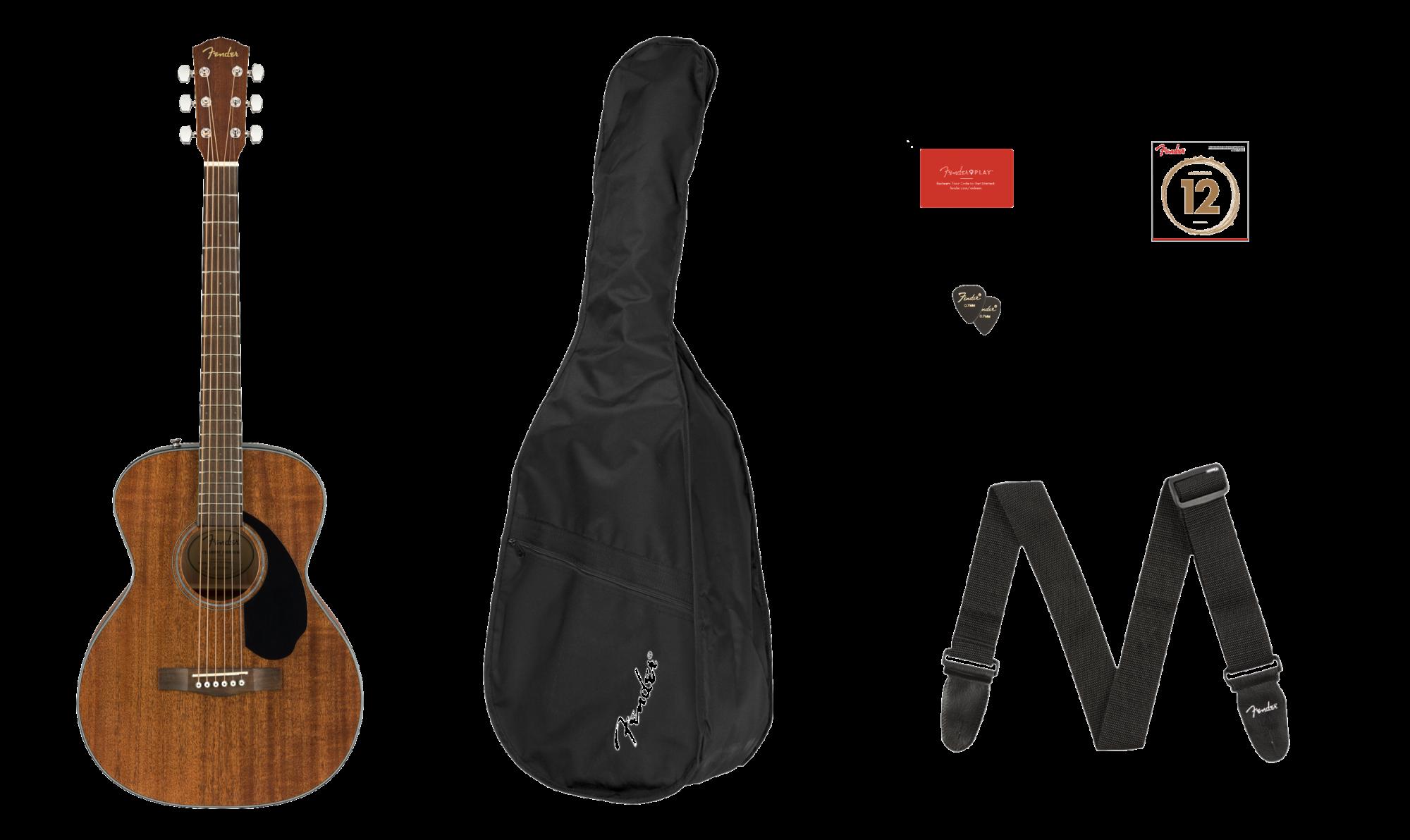 Fender CC-60S Concert Acoustic Guitar Pack - Mahogany V2