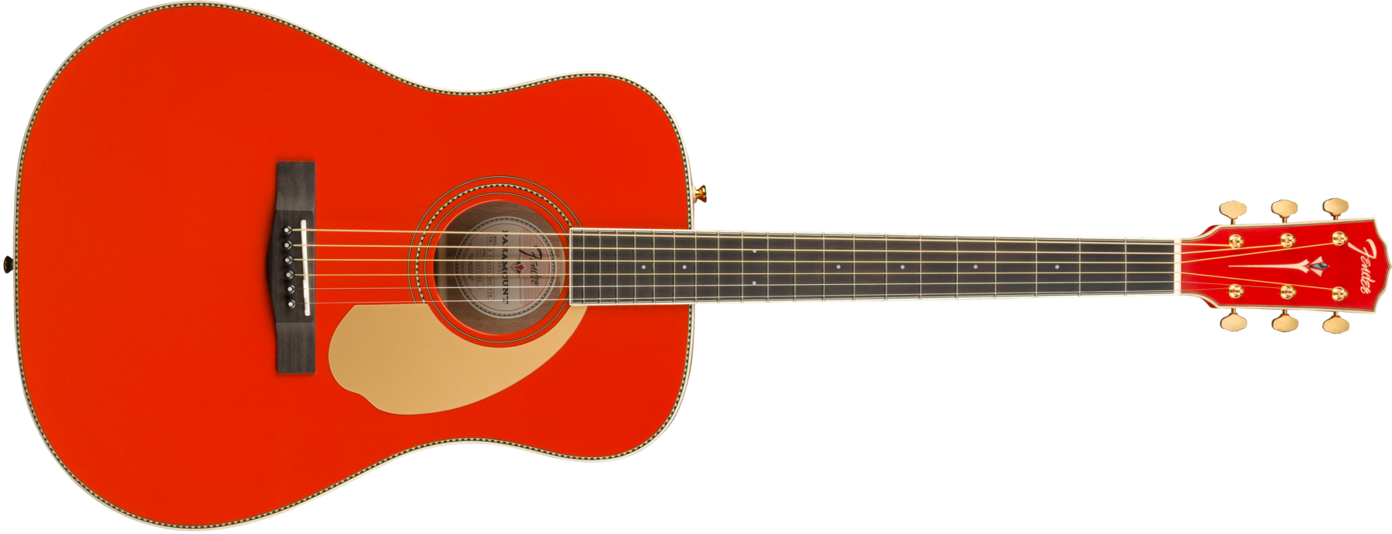 Fender PM-1 Deluxe Dreadnought with Case - Fiesta Red - Limited Edition