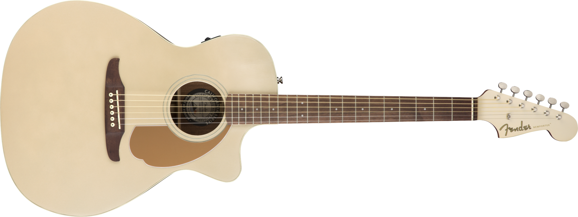 Fender Newporter Player Acoustic Guitar - Walnut Fingerboard - Champagne