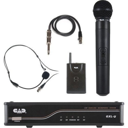 CAD Audio GXLUHBL UHF Wireless Handheld and Bodypack Microphone System