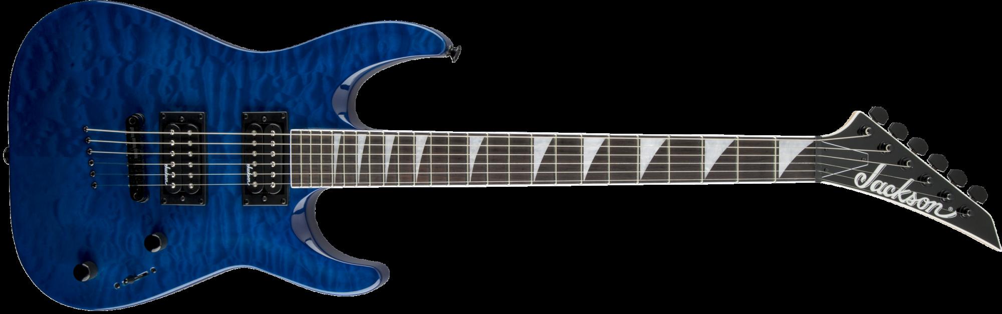 Jackson JS32TQ Dinky DKA Quilt Maple Top Electric Guitar - Trans Blue