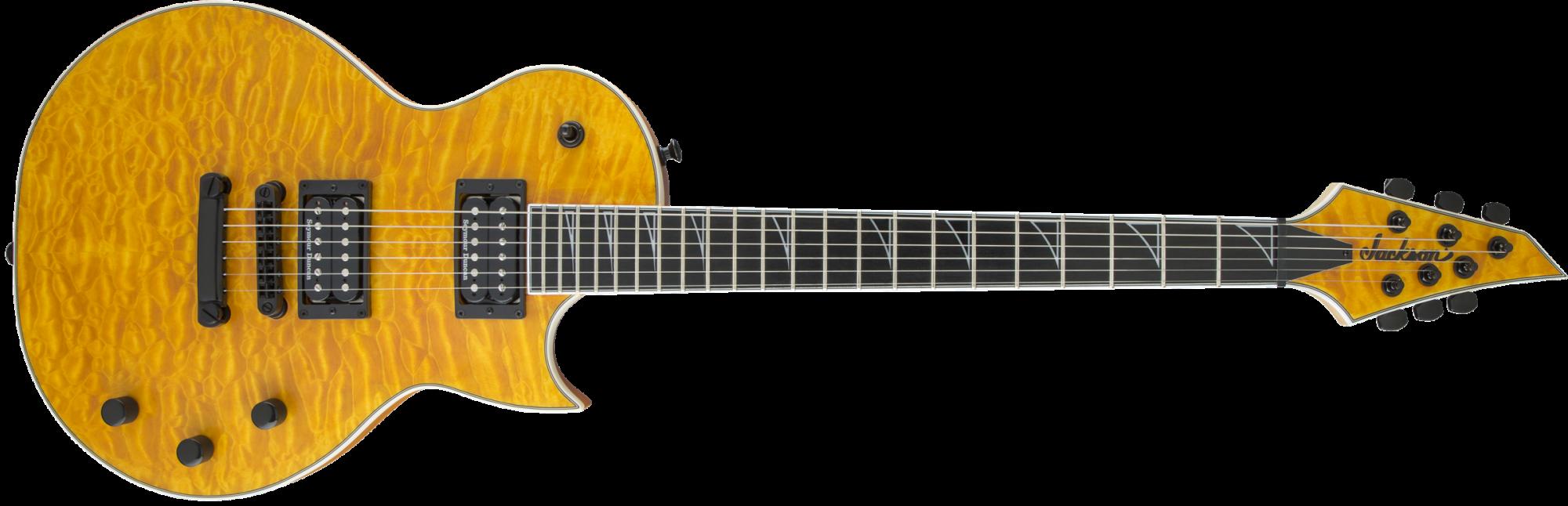 Jackson Pro Series Monarkh SCQ Guitar - Ebony Fingerboard - Satin Amber