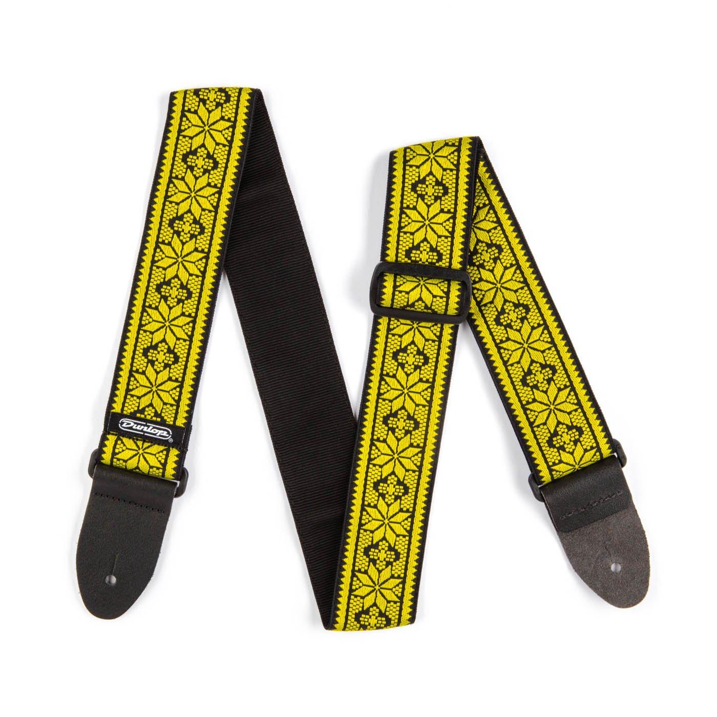 Dunlop D6702YE Jacquard Strap - Fillmore Yellow