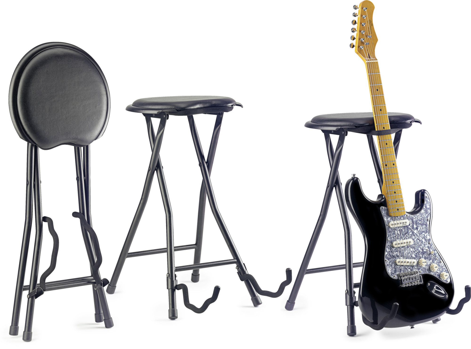 Stagg GIST-300 Foldable Stage Stool With Built in Guitar Stand