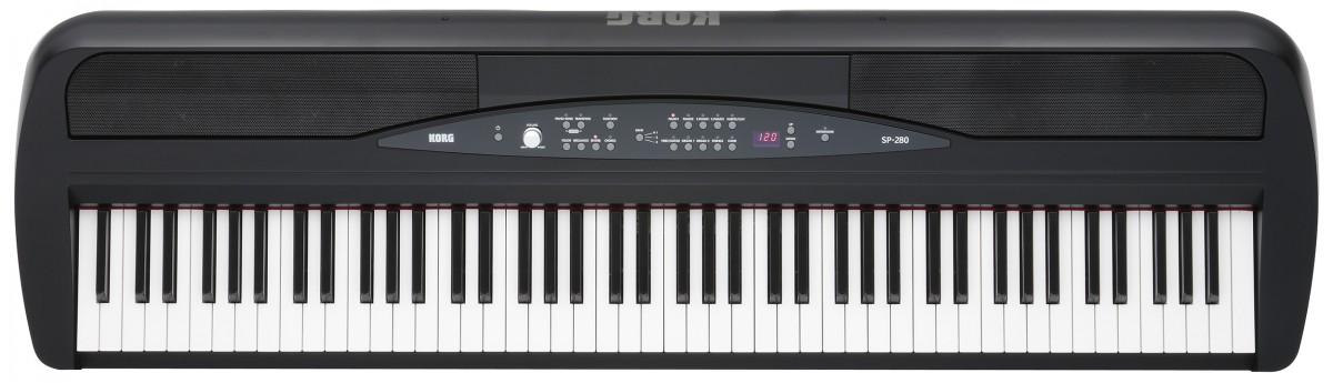 Korg SP-280 88-Key Digital Piano with Stand - Black