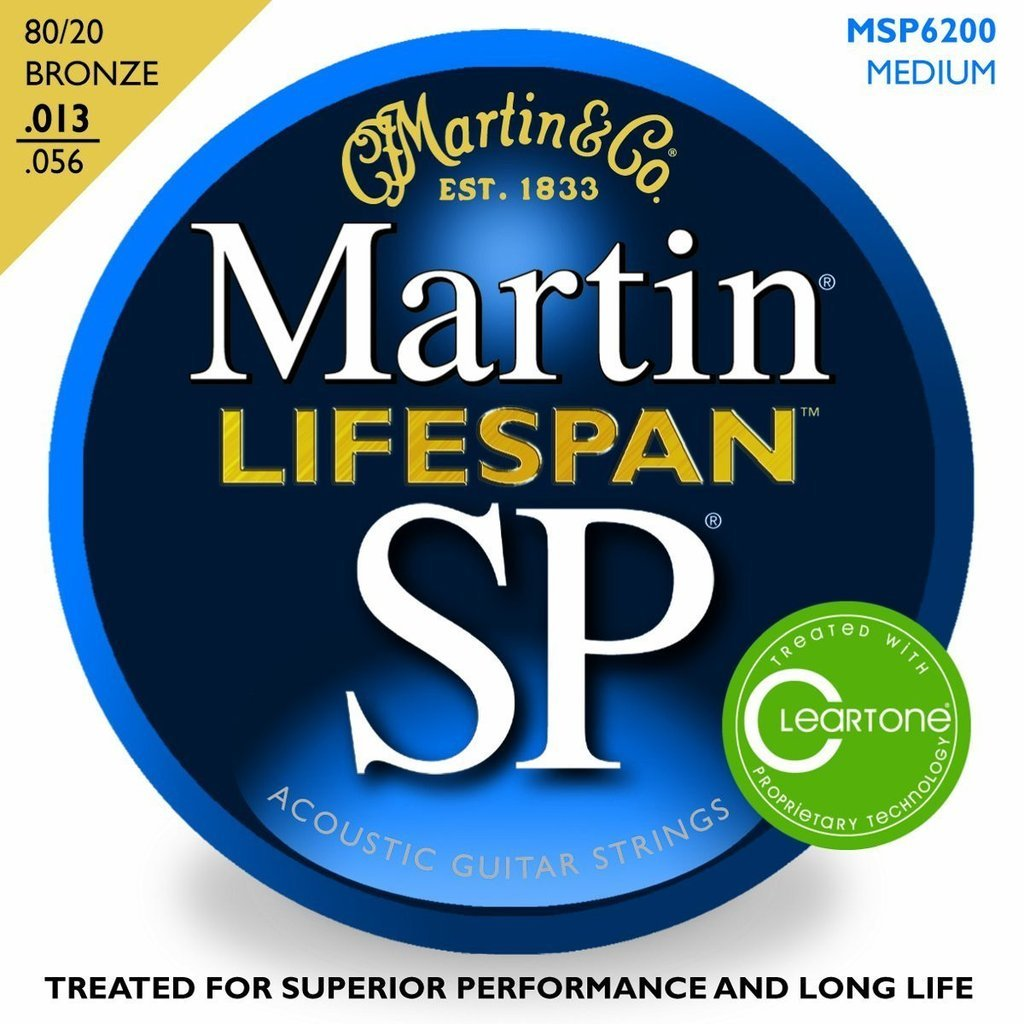 Martin MSP6200 Acoustic Guitar Lifespan 80/20 Bronze .013 - .056