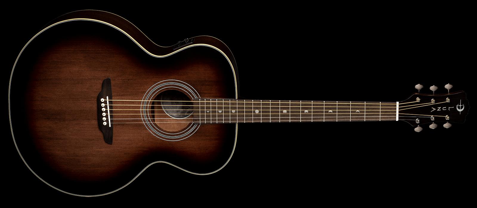 Luna Art Vintage Jumbo Acoustic/Electric Guitar - Solid Top