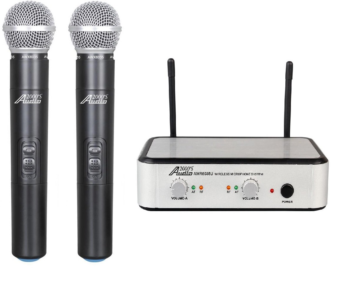 Audio 2000's AWM6035U Dual-Channel UHF Wireless - 2 Handhelds