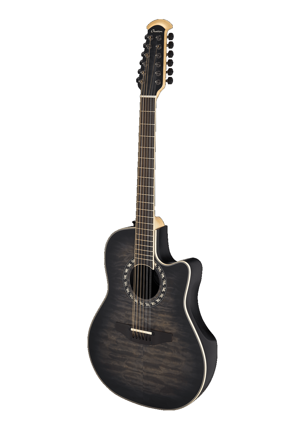 Ovation C2059AXP2-5S ExoticWood Legend 12-String Acoustic Guitar - Black Satin